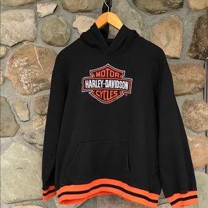 Harley Davidson pull over hoodie black size 20